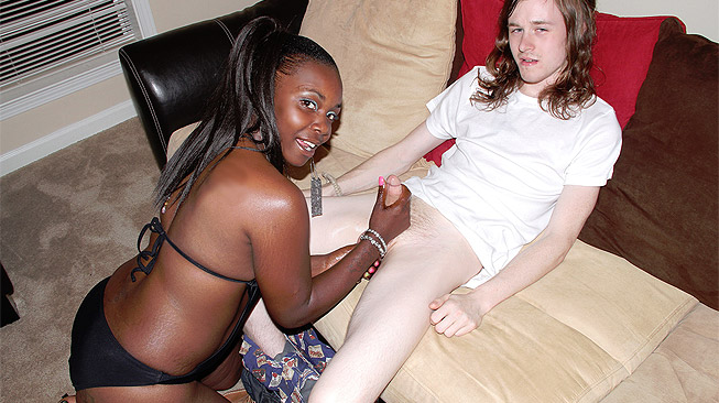 Ghetto Milkin\' Interracial Handjob Video